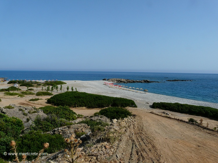 View to Gialiskari beaches Paleochora Crete