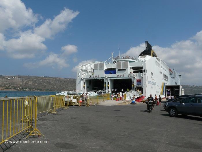 Souda Bay and Souda port near Chania Crete